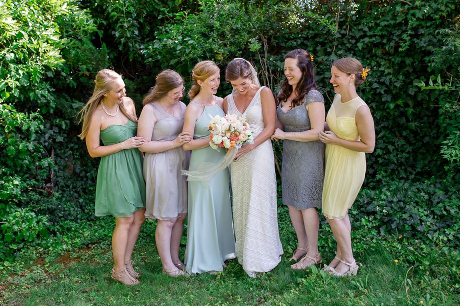pastel color chiffon bridesmaid dresses
