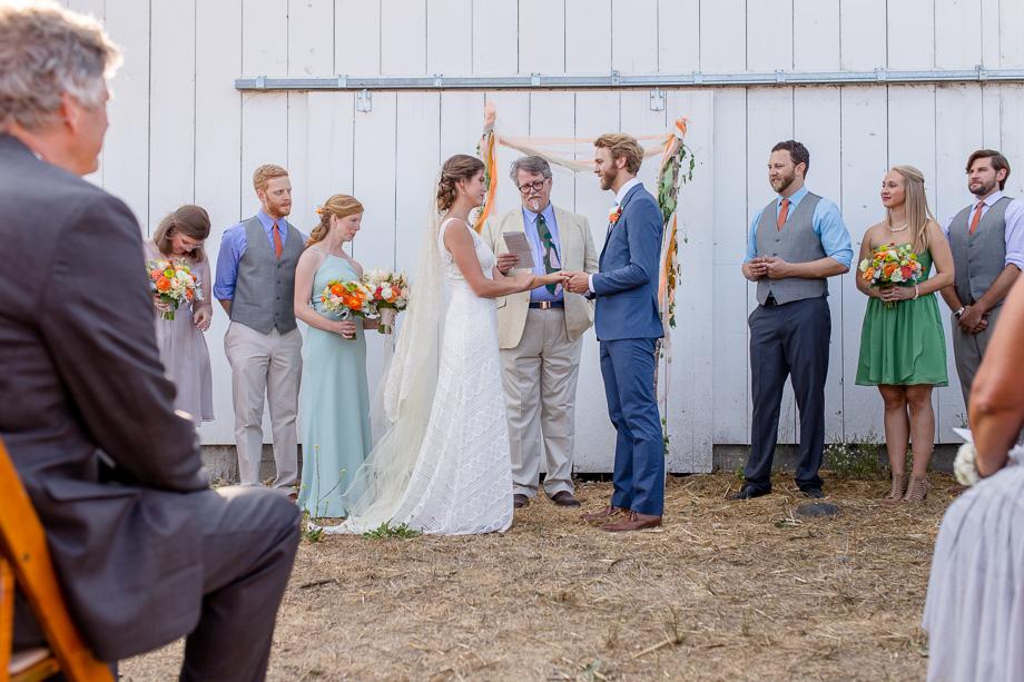 rustic CA wedding