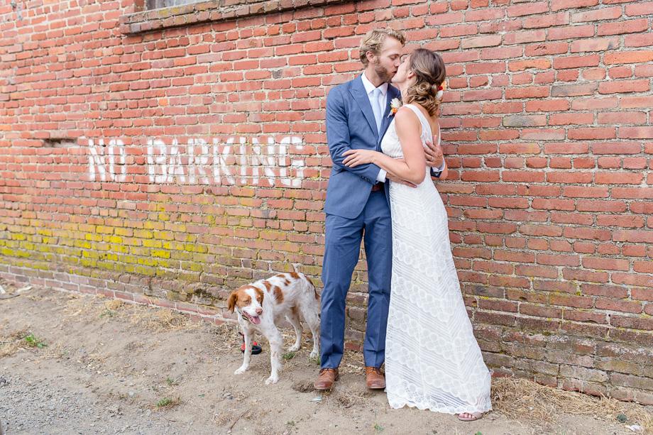 no barking funny wedding photo with puppy - Bay Area wedding portrait photographer