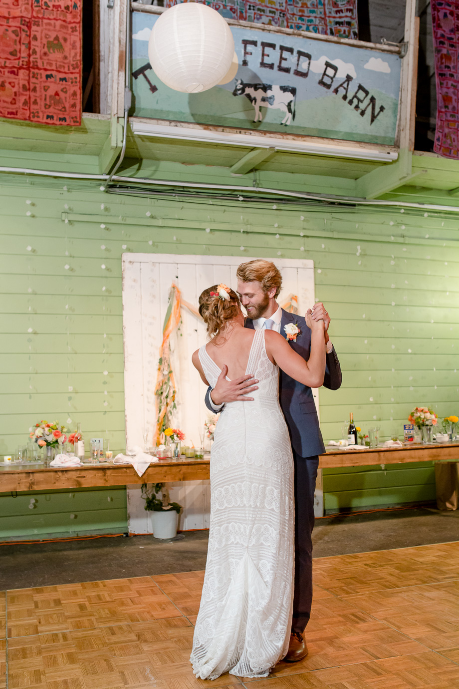 a romantic first dance at the tobys feed barn - Bay Area photojournalistic wedding photographer