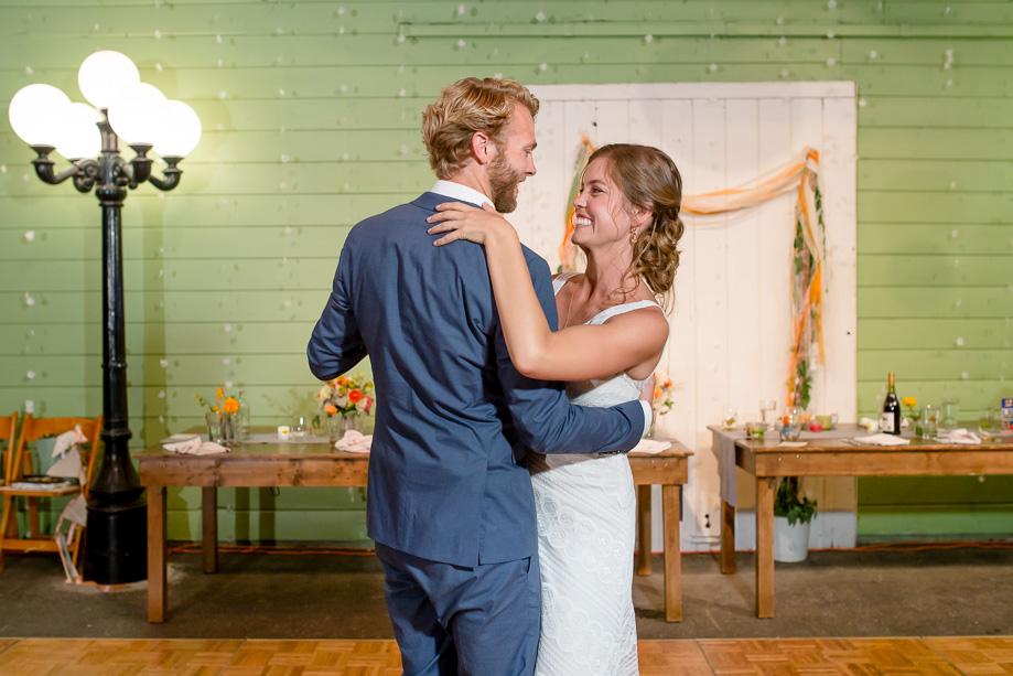 newlyweds first dance - Point Reyes Station wedding reception