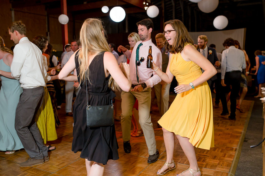 guests having fun on the dance floor - Tobys Feed Barn wedding reception