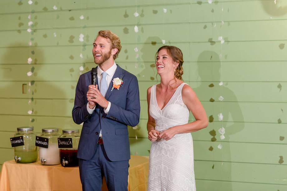 groom giving a thank you speech