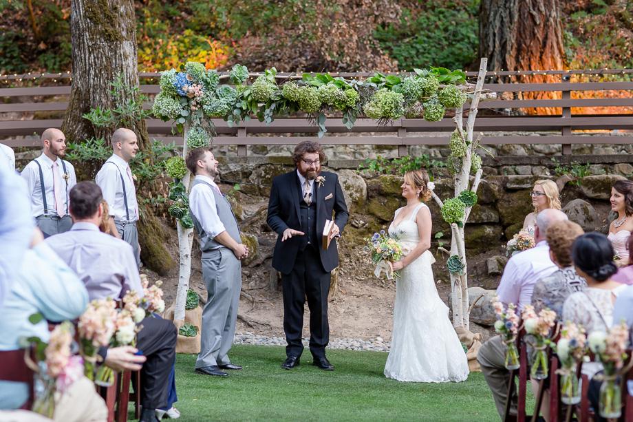 Wedding Ceremony At Saratoga Springs